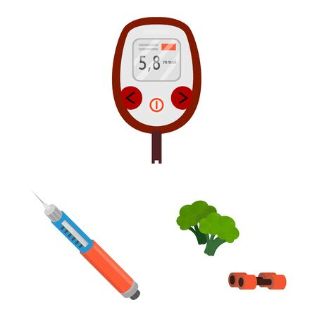 Isolated object of mellitus and diabetes sign. Collection of mellitus and diet stock symbol for web.