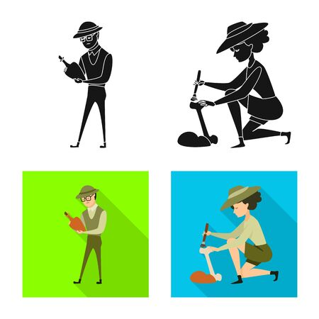 Vector design of story and items sign. Collection of story and attributes stock symbol for web. Illustration