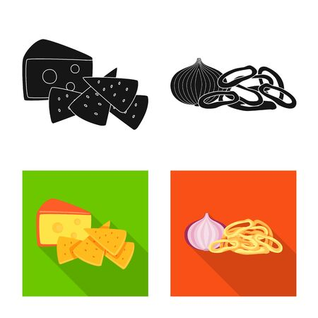 Vector illustration of taste and seasonin . Collection of taste and organic stock vector illustration.