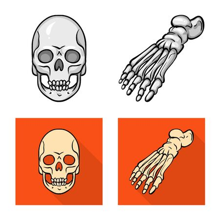 Vector illustration of medicine and clinic icon. Set of medicine and medical stock vector illustration.