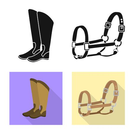 Vector design of equipment and riding. Collection of equipment and competition stock symbol for web.