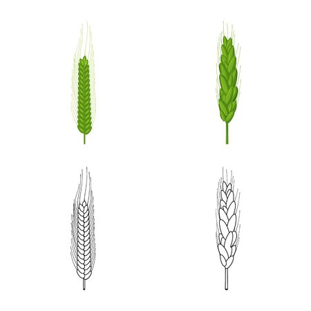 Vector design of agriculture and farming symbol. Set of agriculture and plant stock vector illustration.