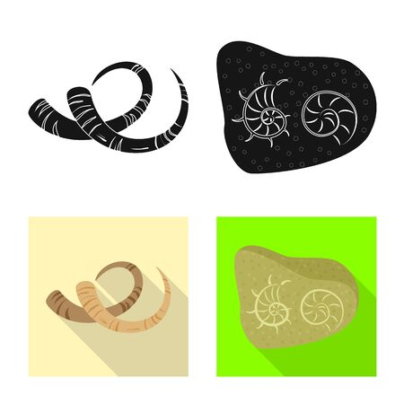 Vector design of story and items symbol. Collection of story and attributes vector icon for stock. Иллюстрация