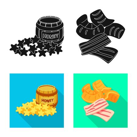 Vector design of taste and seasonin icon. Set of taste and organic vector icon for stock. 일러스트