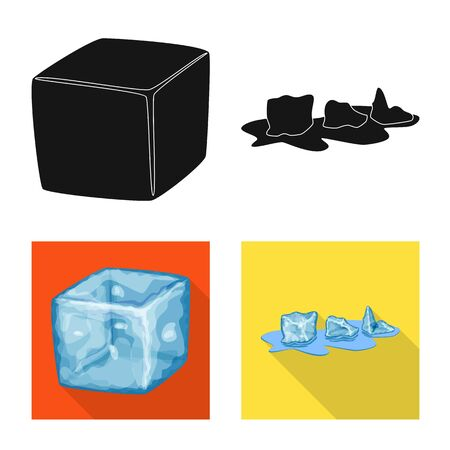 Vector design of texture and frozen. Collection of texture and transparent stock vector illustration.