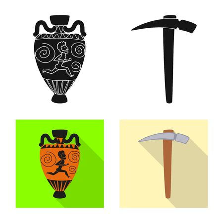 Vector design of story and items. Collection of story and attributes stock vector illustration. Foto de archivo - 129330896