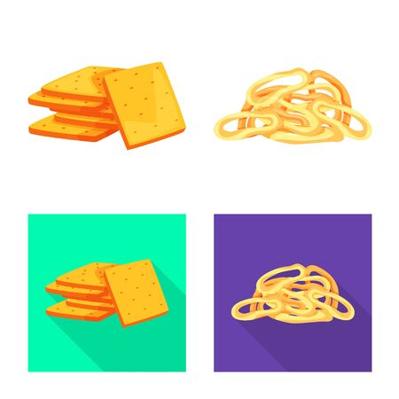 Isolated object of Oktoberfest and bar symbol. Collection of Oktoberfest and cooking stock symbol for web. Иллюстрация