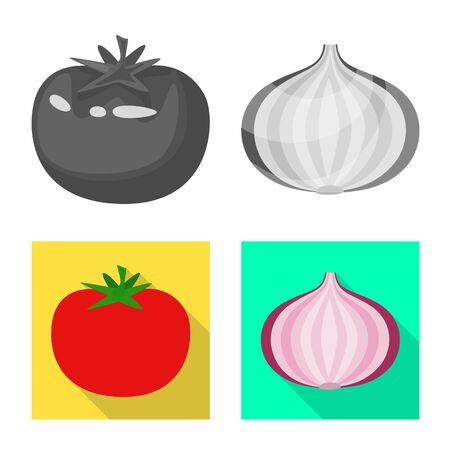 Vector illustration of taste and product sign. Set of taste and cooking vector icon for stock.