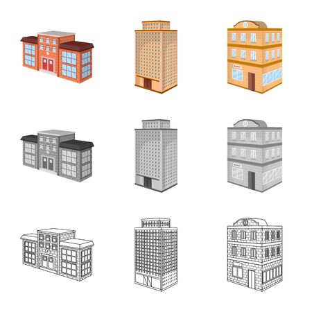Vector illustration of construction and building sign. Collection of construction and estate vector icon for stock. 版權商用圖片 - 129331194