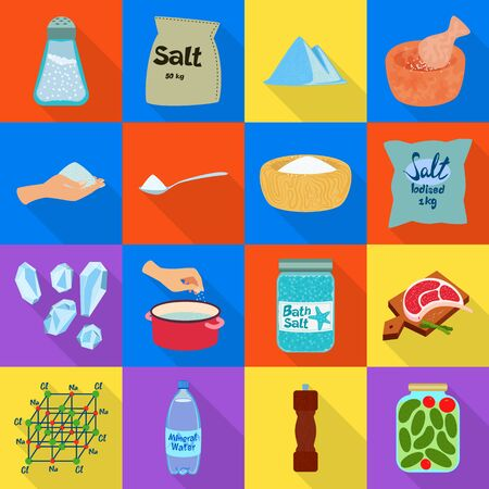 Vector illustration of raw and kitchen icon. Set of raw and sea stock symbol for web.