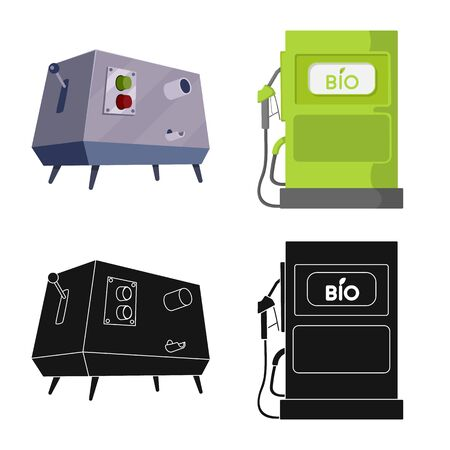 Vector design of farm and agriculture. Set of farm and technology vector icon for stock.  イラスト・ベクター素材
