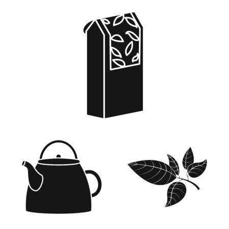 Vector design of medicine and gradient symbol. Collection of medicine and natural stock symbol for web.