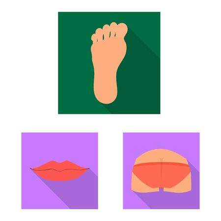Isolated object of body and part . Set of body and anatomy vector icon for stock. 일러스트