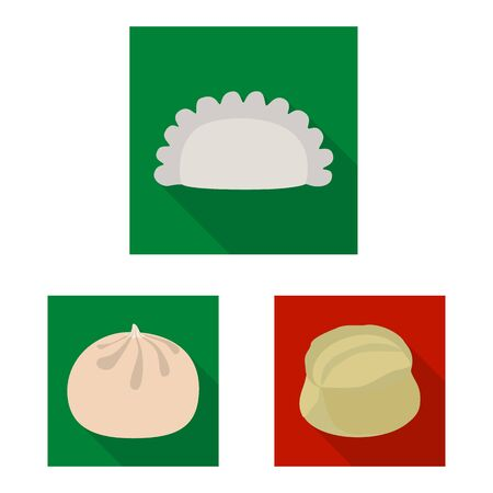 Isolated object of products and cooking sign. Collection of products and appetizer stock symbol for web. Ilustrace