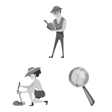 Vector illustration of story and discovery icon. Collection of story and items stock symbol for web. Иллюстрация