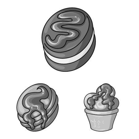 Isolated object of sweet and caramel symbol. Collection of sweet and culinary vector icon for stock.