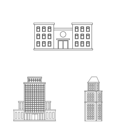Vector design of architecture and exterior icon. Set of architecture and city vector icon for stock.