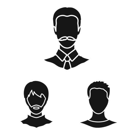 Vector design of character and profile symbol. Collection of character and dummy stock vector illustration.