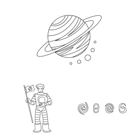 Vector design of space and galaxy . Collection of space and travels vector icon for stock.
