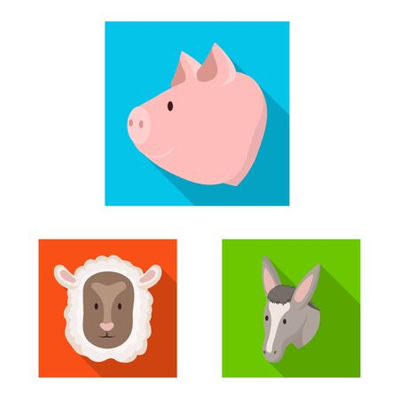 Vector illustration of agriculture and breeding sign. Collection of agriculture and organic stock symbol for web.