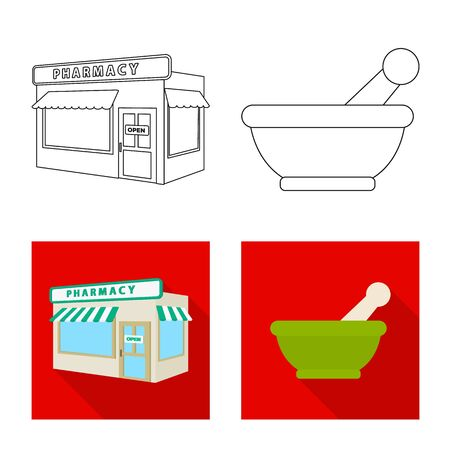 Isolated object of retail and healthcare symbol. Collection of retail and wellness stock symbol for web. Фото со стока - 129373364
