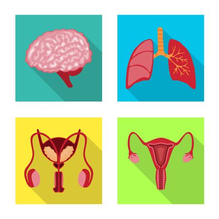 Isolated object of human and health symbol. Collection of human and scientific stock vector illustration.