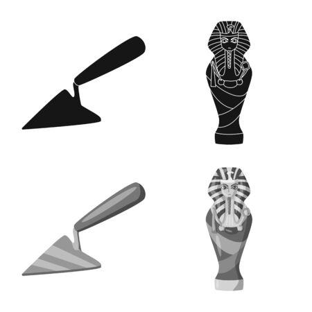Vector illustration of story and items symbol. Set of story and attributes stock vector illustration. 版權商用圖片 - 129373977
