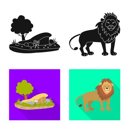 Vector illustration of nature and fun sign. Set of nature and entertainment vector icon for stock. 일러스트
