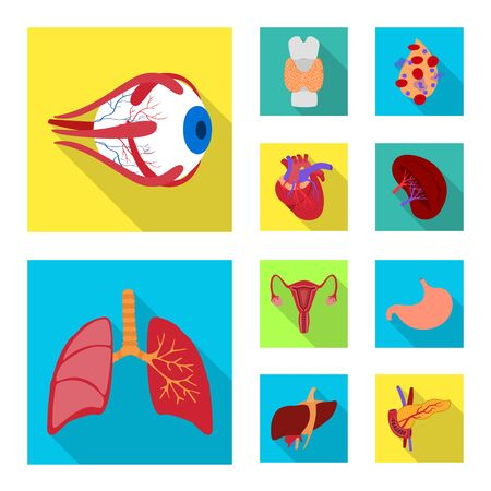 Vector design of human and health. Set of human and scientific vector icon for stock.