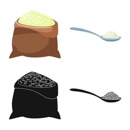 Vector illustration of crop and ecological. Collection of crop and cooking vector icon for stock. Stock Illustratie