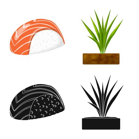Vector design of crop and ecological sign. Collection of crop and cooking stock symbol for web.