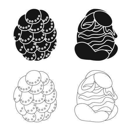 Vector illustration of animal and prehistoric icon. Collection of animal and cute vector icon for stock.  イラスト・ベクター素材
