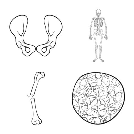 Vector design of medicine and clinic symbol. Set of medicine and medical stock symbol for web.