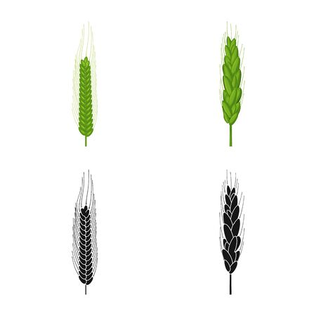 Vector illustration of agriculture and farming symbol. Set of agriculture and plant stock symbol for web.