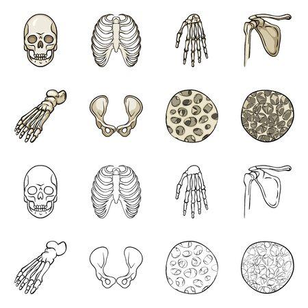 Vector design of medicine and clinic icon. Set of medicine and medical stock vector illustration.