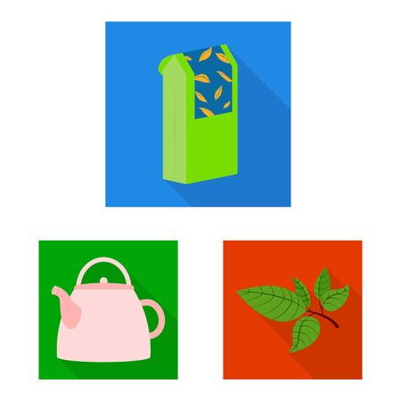 Vector design of product and organic icon. Collection of product and floral stock vector illustration.  イラスト・ベクター素材