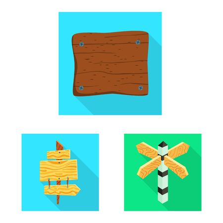 Isolated object of raw and wooden logo. Collection of raw and forest stock symbol for web.