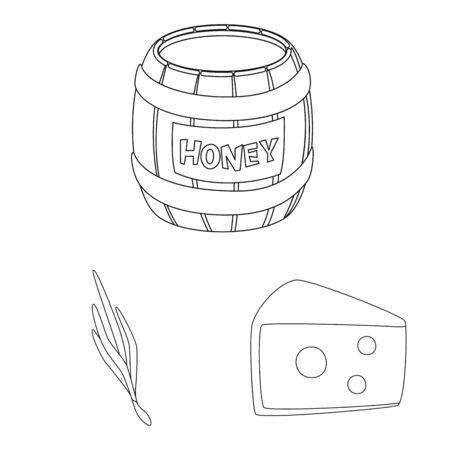 Vector design of seasonin and ingredient logo. Collection of seasonin and aroma stock vector illustration.