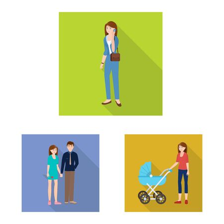 Vector illustration of generation and happy logo. Set of generation and avatar stock vector illustration. Logo