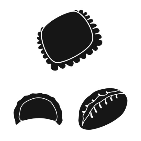 Vector illustration of cuisine and appetizer icon. Set of cuisine and food vector icon for stock.