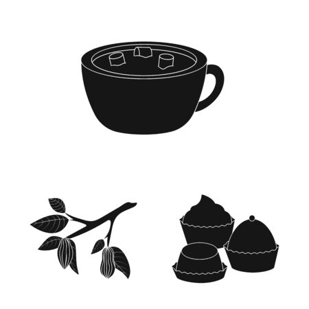 Isolated object of cooking and brown icon. Set of cooking and beans vector icon for stock. Illustration