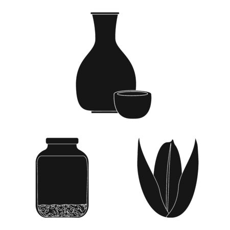 Isolated object of diet and cooking icon. Set of diet and organic stock symbol for web.