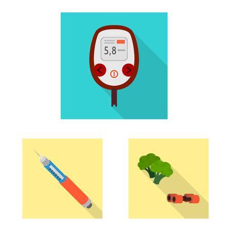 Vector design of symptom and disease symbol. Collection of symptom and treatment vector icon for stock. Illusztráció