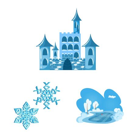 Vector design of frost and water sign. Set of frost and wet stock vector illustration.