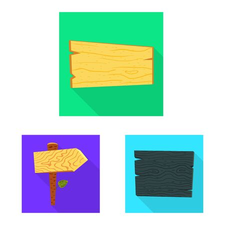 Vector design of raw and wooden symbol. Set of raw and forest vector icon for stock.