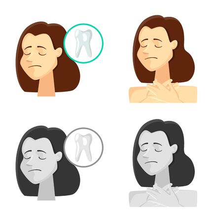 Vector design of hospital and rendering icon. Set of hospital and help stock vector illustration.