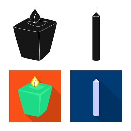 Vector design of relaxation and flame icon. Set of relaxation and wax vector icon for stock.