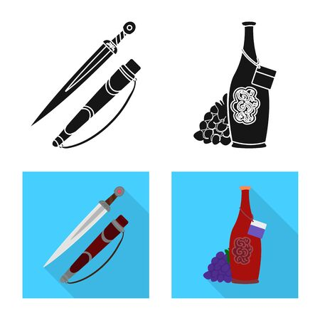Vector design of culture and sightseeing icon. Collection of culture and originality vector icon for stock. Çizim