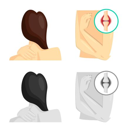 Isolated object of hospital and rendering symbol. Set of hospital and help stock vector illustration. Illustration