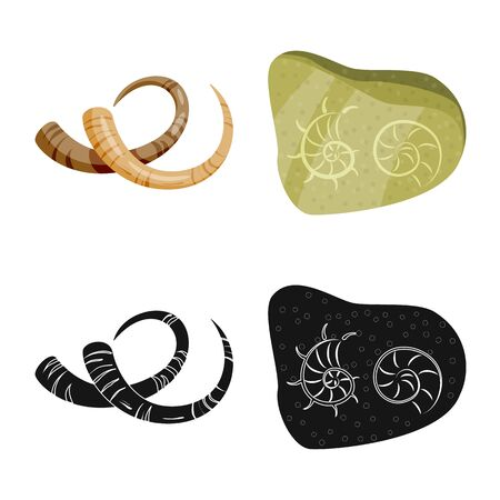 Vector design of story and items symbol. Collection of story and attributes vector icon for stock. 写真素材 - 129446411